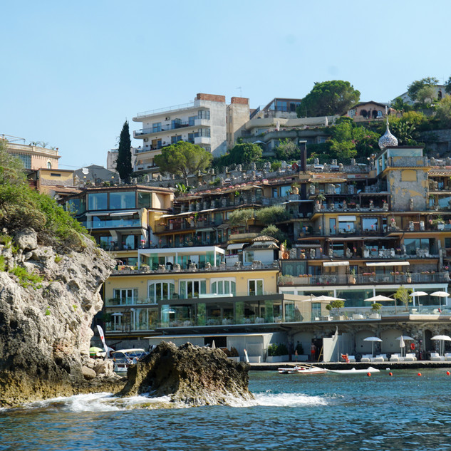 Hotel on the shore of Taormina, Italy