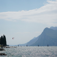 Busy afternoo at the Lake Garda, Italy