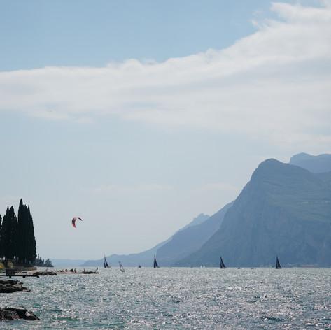 Busy afternoo at the Lake Garda, Italy