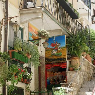 Streets of Taormina, Italy