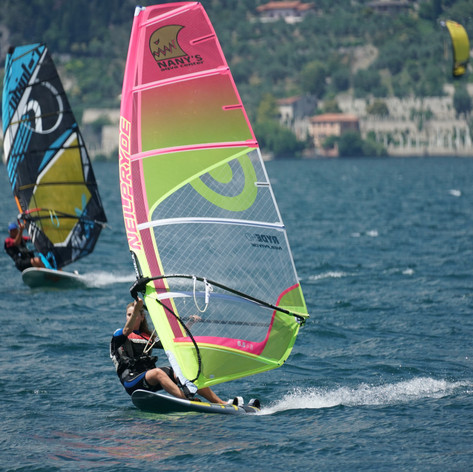 Clasic beauty of windsurfing