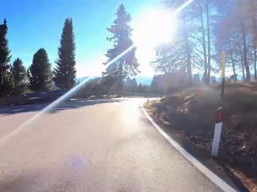 Epic 22 min, 16 km down hill (1285 m altitude difference) bicycle ride Falzeben - Merano.