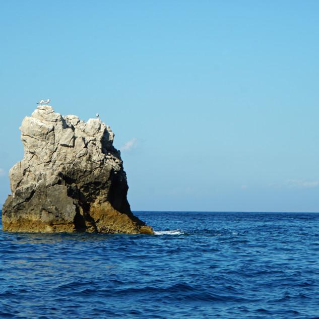 Sea scenery near Taormina,Italy