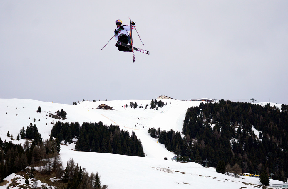 Ruud Birk from Norway, the winner of the Freeski event in Seiser Alm, Italy