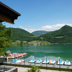 Lake Kaltern near Eppan, South Tirol, ITA