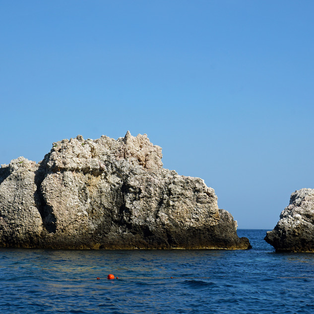 Sea scenery near Taormina, Italy