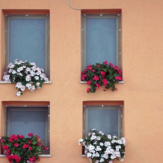Window decoration in Taormina, Italy