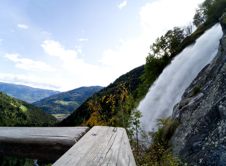97 metres high waterfall above Parcines/Partschins