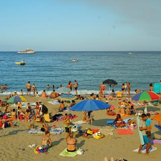 Beach in Giardini Naxos, Italy