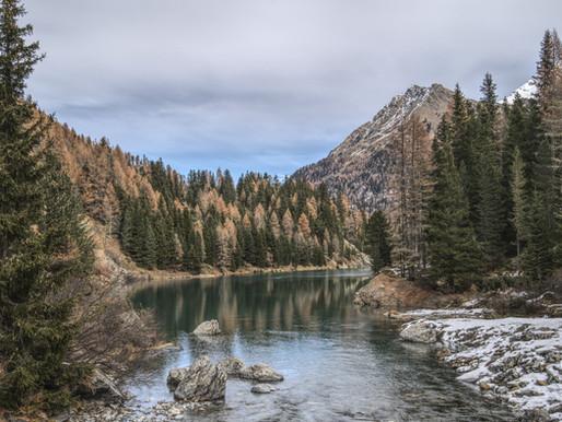 Lake Zufrittsee (Gioveretto) in Martelltal valley