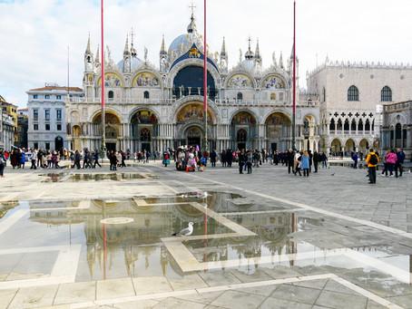 Flood in Venice, Italy in November 2019