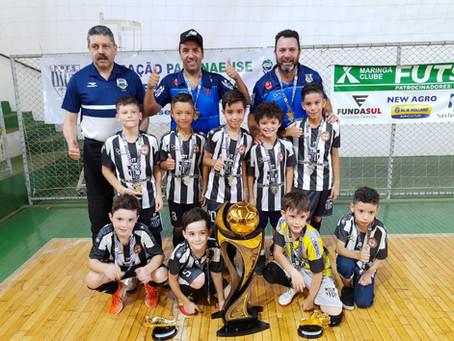 Clube Olímpico de Maringá é o campeão do Campeonato Estadual de base categoria sub 08 masculino