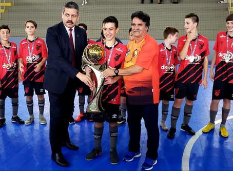 Athletico Pr Cancun Futsal é o Campeão do Estadual de Base Sub 13 Masculino.