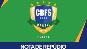 NOTA DE REPÚDIO CBFS