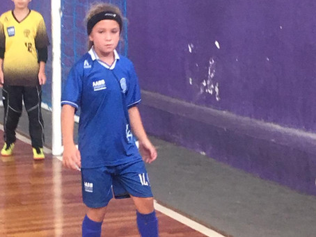 A Atleta Pietra Vitoria de Souza (Pepê) vai jogar o Campeonato Estadual de base pelo Santa Mônica