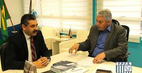 Presidente Jesuel Laureano Souza se reúne com Douglas Fabrício para falar do Futsal Paranaense