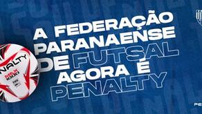 Penalty é a nova patrocinadora da Federação Paranaense de Futebol de Salão