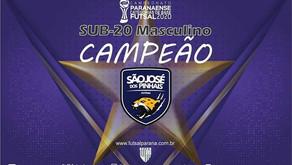 São José dos Pinhais é o clube Campeão do Sub 20 Masculino
