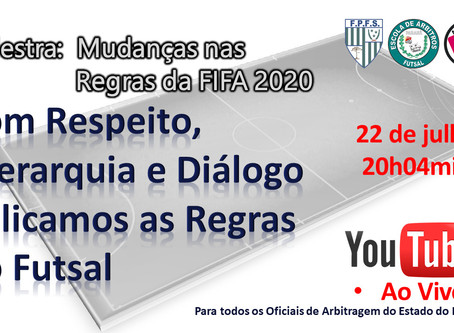 Federação Paranaense de Futebol de Salão promove Palestra Mudanças nas Regras da Fifa 2020