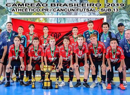 APFS Associação de Pais do Futsal Athletico/PR Cancun conquista o título da Taça Brasil Sub-13