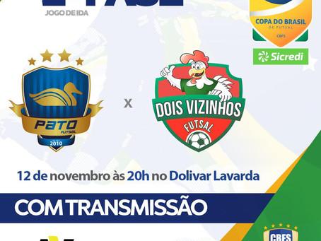 Copa do Brasil Masculina tem confronto de Paranaenses no primeiro Jogo da segunda fase.