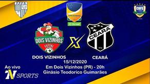 O Galo de Dois Vizinhos Futsal faz hoje o primeiro jogo da decisão da Copa do Brasil.