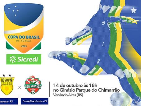 Hoje acontece o jogo entre Assoeva x Dois Vizinhos pela Copa do Brasil Sicredi