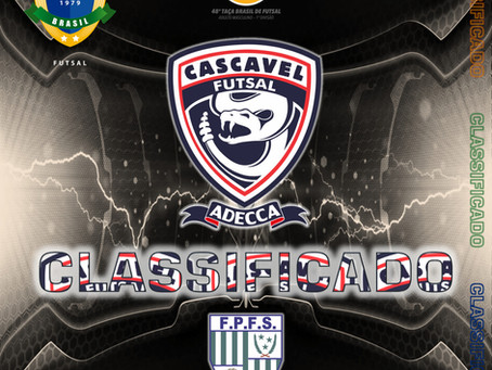 XLVIII Taça Brasil de Clubes Adulto Masculino Cascavel Futsal/Adecca CLASSIFICADO