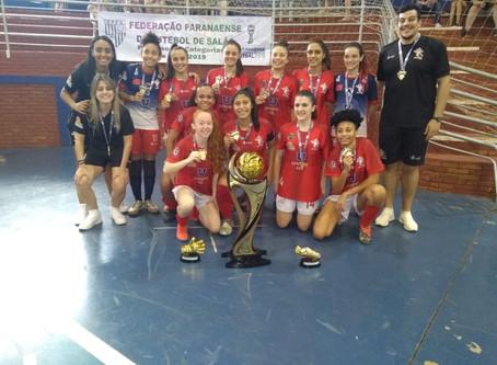 Campeonato Estadual de Base Sub 20 Feminino ja tem a equipe Campeã UNOPAR FEL Londrina Futsal