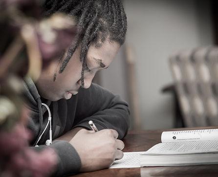 Students thinking through their goals