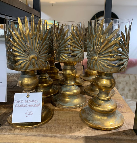 Gold Leaves Candelabra