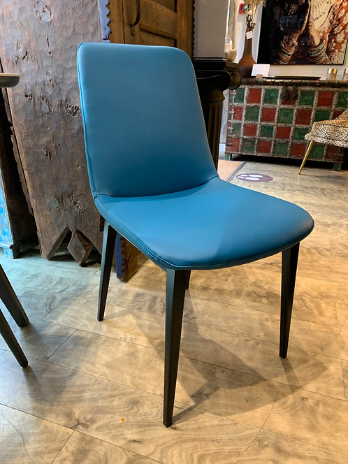 Blue Faux Leather Dining / Occasional Chair