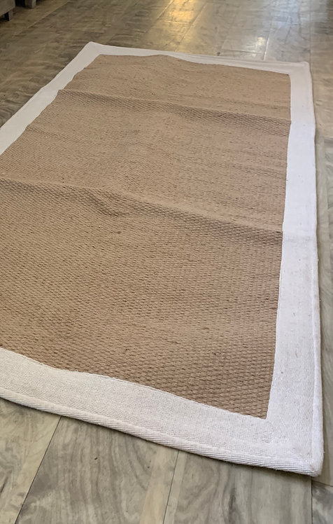 Natural Jute Rug with Cotton Edge