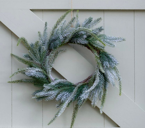 Faux Frosted Fir Christmas Wreath