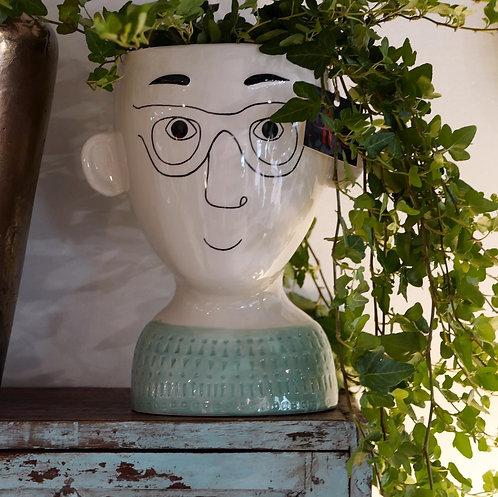 Man Doodle Pot
