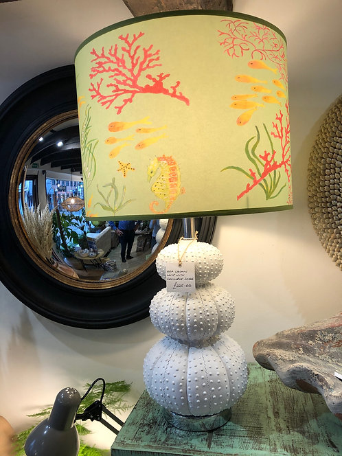 Sea Urchin Lamp with Seahorse Shade