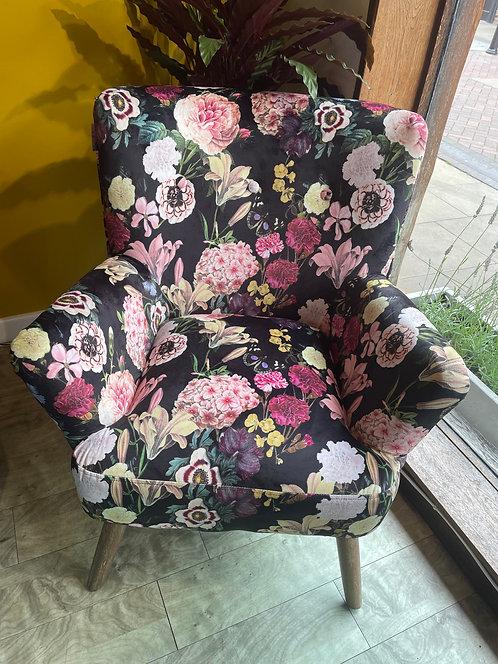 Pink Floral Print Chair