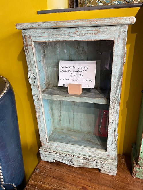 Vintage Pale Blue Indian Cabinet