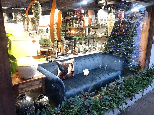 Midnight Blue Studded Sofa