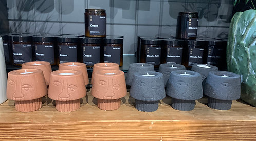 Stoneware Tea Light Holders