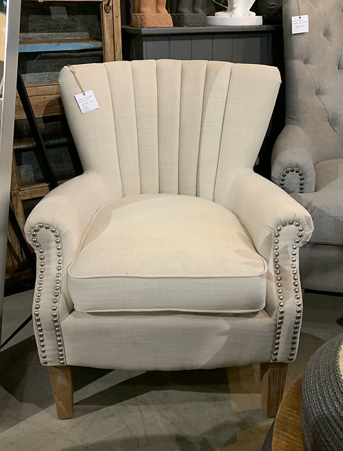 Cream Studded Chair