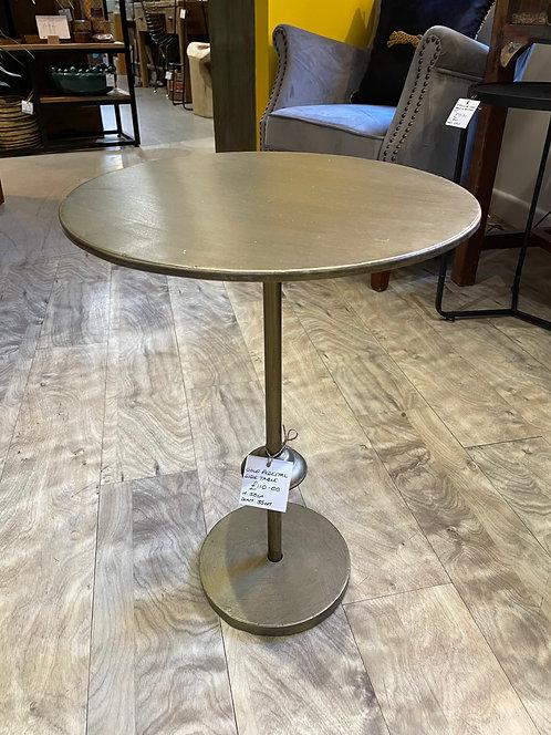 Gold Pedestal Side Table