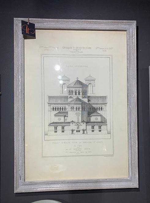 Aged Ash Framed Print (no 13)