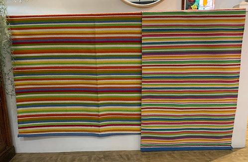 Multi Colour Striped Rugs