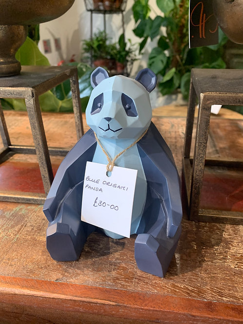 Blue Origami Panda