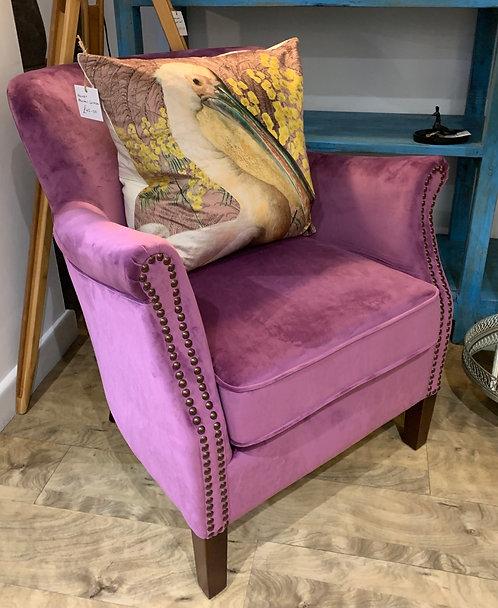 Plum Velvet Armchair