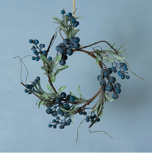 Faux Blueberry Christmas Wreath
