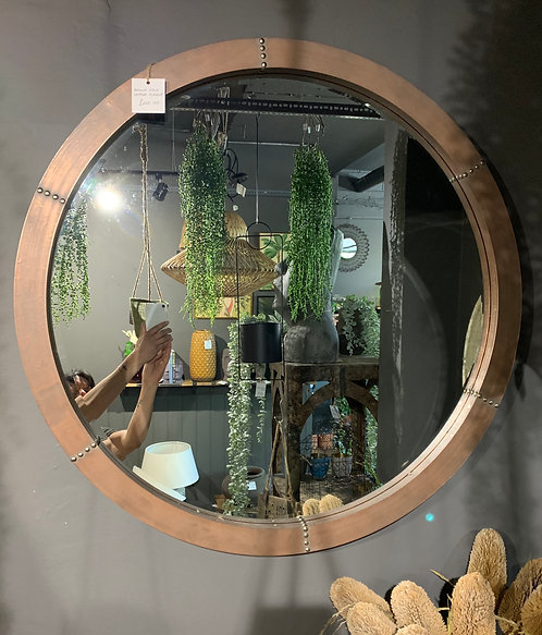 Round Stud Copper Mirror