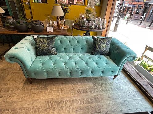 Aruba Blue (Acqua) Chesterfield Sofa