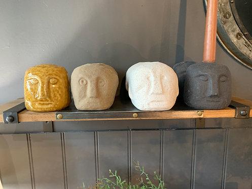 Stoneware Candle Holders
